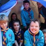 Beavers in tent