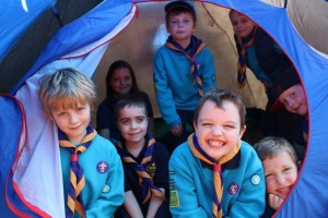 Gloucestershire Beavers in a Tent